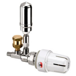 """1/8"""" Threaded 1-Pipe Steam Angle Valve Assembly w/ MTW Direct Mount Thermo. Product Image"""