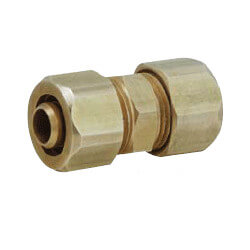 "1/2"" PEX x 1/2"" PEX Brass Compression Coupling"