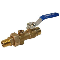 "3/4"" Sweat BB Reduced Body Union End<br>Balancing Ball Valve Product Image"