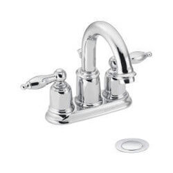 4948 4948 Castleby Double Handle Lavatory Faucet With Drain Assembly Chrome