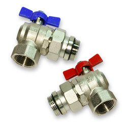 Angle Isolation union Ball Valve (Pair: Hot/Cold)