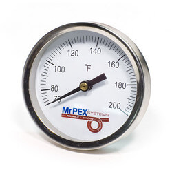 "Strap-On Pipe Thermometer for 3/8""-1.5"" Pipe (0-248F)"