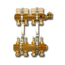 "6 Loop Radiant Heat Manifold Package (1/2"" PEX)"