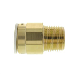"1/2"" CTS x 1/2"" NPT Speedfit Brass Male Connector (Low Lead) Product Image"