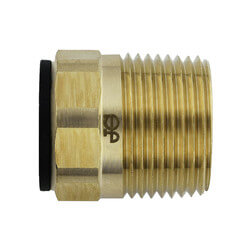 "1/2"" CTS x 3/4"" NPT Speedfit Brass Male Connector (Low Lead) Product Image"