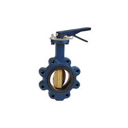 "5"" Lug Cast Iron Butterfly Valve, EPDM, Ductile Iron Disc, Lever (200 PSI) Product Image"