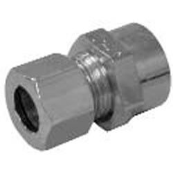 "3/8"" Compression x 5/8"" OD Chrome Plated Sweat Adapter"
