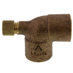 "1/2"" Cast Copper 90° Elbow w/ Drain (Lead Free) Product Image"