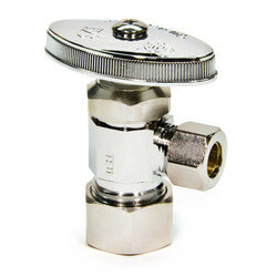 "5/8"" O.D. Compr. x 3/8"" O.D. Compr. Angle Stop Valve, Lead Free (Chrome) Product Image"