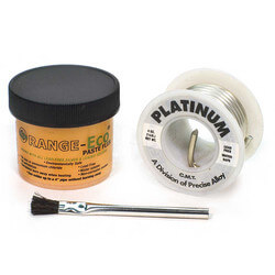 Orange-Eco Paste Flux (2 Oz.) & Platinum Solder (1/4 lb) w/ Brush