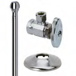 "3/8"" FIP x 3/8"" OD Comp Faucet Supply Kit - Angle Stop, 12"" (Chrome) Product Image"