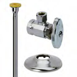"3/8"" FIP x 3/8"" OD Comp Toilet Supply Kit - Angle Stop, 12"" (Chrome) Product Image"