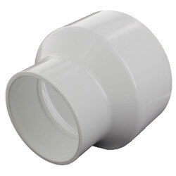 """8"""" x 4"""" PVC DWV<br>Reducer Coupling Product Image"""
