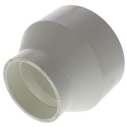 """8"""" x 6"""" PVC DWV<br>Reducer Coupling Product Image"""