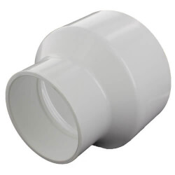 """10"""" x 6"""" PVC DWV <br>Reducer Coupling Product Image"""