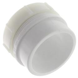 "2"" PVC DWV Male Trap Adapter w/ Plastic Nut (Spigot x Slip) Product Image"