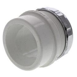 "1-1/2"" PVC DWV Male Trap Adapter w/ Chrome Nut (Spigot x Slip) Product Image"