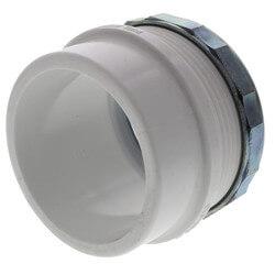"2"" PVC DWV Male Trap Adapter w/ Chrome Nut (Spigot x Slip) Product Image"