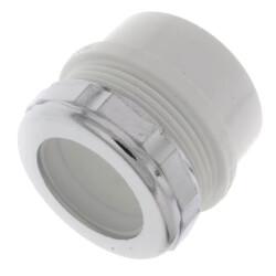"1-1/2"" x 1-1/4"" PVC DWV Male Trap Adapter w/ Chrome Nut (Spigot x Slip) Product Image"