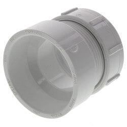 "1-1/2"" PVC DWV Fem. Trap Adapter w/ Plastic Nut & Washer (Hub x Slip) Product Image"