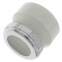 "1-1/2"" x 1-1/4"" PVC DWV Fem. Trap Adapter<br>w/ Chrome Nut & Washer Product Image"