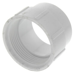 "1-1/2"" PVC DWV Fitting Cleanout Adapter"