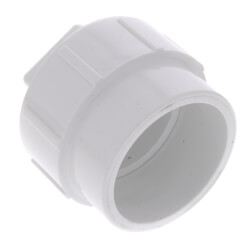 "12"" PVC DWV Fitting Cleanout Adapter w/ Plug"