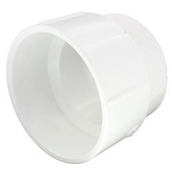 "6"" PVC DWV Male Adapter"