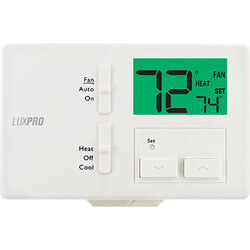 Dual Power Non-Prog Thermostat, Horizontal Mount (1 Heat - 1 Cool) Product Image