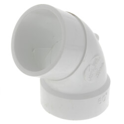 "2"" PVC DWV <br>60° Street Elbow Product Image"
