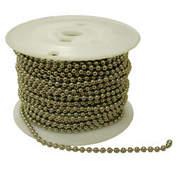 #10 Nickel Plated Brass 500' Spool Beaded Chain