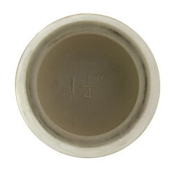 "1-5/8"" White Hollow Rubber Basin & Tub Stopper"