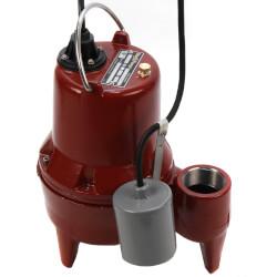 """1/2 HP Sewage Pump System - 115v - 2"""" Discharge - 21"""" x 30"""" Basin"""