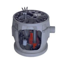 "4/10 HP Sewage Pump System- 115V 2"" Discharge, 24"" x 24"" Basin Product Image"