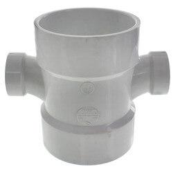 "4"" x 1-1/2"" PVC DWV Double Sanitary Tee"