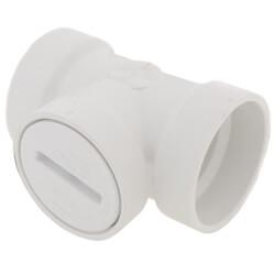 """4"""" PVC DWV Flush Cleanout Tee w/ Cleanout Plug"""