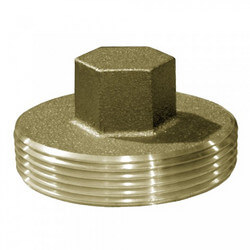 "3-1/2"" Raised Head Brass Cleanout Plug Product Image"