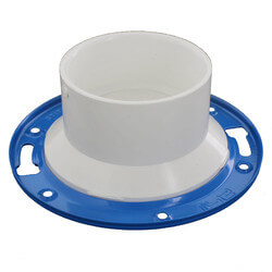 "4"" PVC DWV Closet Flange w/ Adjustable Metal Ring"