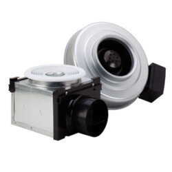 "PB110H Prem. Bath Fan Kit w/ Dim Hal. Light (Single Grille), 4"" Duct Product Image"