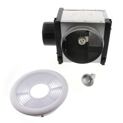 """PBH4 7"""" Expansion Ceiling Grille & Housing w/ Dimmable Halogen Light, Uses 4"""" Duct"""