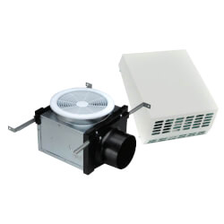 "4"" Exterior Mount Bath Fan w/ Dimmable 7W LED, 19 W, 120 CFM (120V) Product Image"