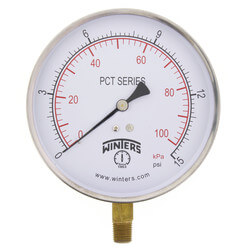 "4.5"" PCT Contractor Pressure Gauge (0-15 PSI) Product Image"