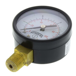 "2"" PEM Dual Scale Economy Pressure Gauge (0-15 PSI) Product Image"
