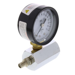 "2"" PET Economy Gas Test Pressure Gauge (0-30 PSI)"