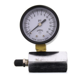 "2"" PET Economy Gas Test Pressure Gauge (0-15 PSI) Product Image"