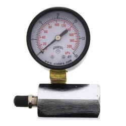 "2"" PET Economy Gas Test Pressure Gauge (0-30 PSI) Product Image"