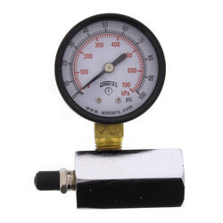 "2"" PET Economy Gas Test Pressure Gauge (0-100 PSI) Product Image"