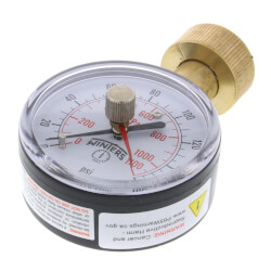 "2-1/2"" PET Econ. Max. Water Test Pressure Gauge (0-160 PSI) Product Image"