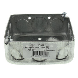 "1900 Galvanized Steel Utility Box (4"" x 4"" x 1-1/2"") Product Image"