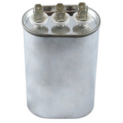 370V Oval Dual Run Capacitor (25/3 MFD) Product Image